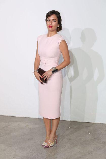 elblogdeanasuero_El estilo de Blanca Suárez_Dior vestido tubo rosa