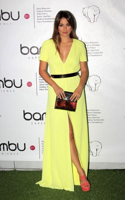 elblogdeanasuero_El estilo de Blanca Suárez_Vestido amarillo largo
