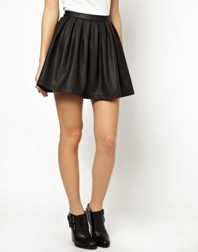 elblogdeanasuero_Faldas de cuero_Asos minifalda plisada Only