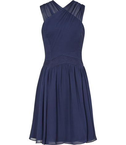 elblogdeanasuero_Vestidos de boda azules_Reiss vestido seda corto cruzado delante