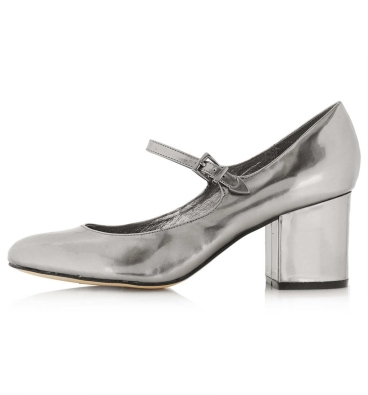 elblogdeanasuero_Zapatos Mary Jane_Topshop tacón medio plateados