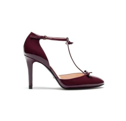 elblogdeanasuero_Zapatos Mary Jane_Uterque burgundy lazos
