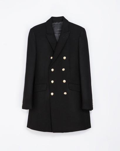 elblogdeanasuero_Regalos de Navidad_Zara abrigo negro botones dorados