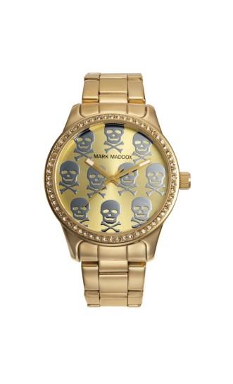 elblogdeanasuero_Regalos Navidad 2013-2014_Mark Maddox reloj dorado calaveras