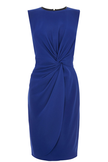 elblogdeanasuero_Vestidos Navidad 2013_Oasis vestido drapeado azul klein