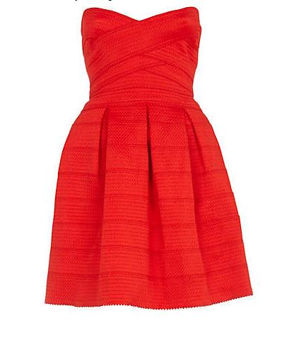 elblogdeanasuero_Vestidos Navidad 2013_River Island vestido palabra de honor rojo