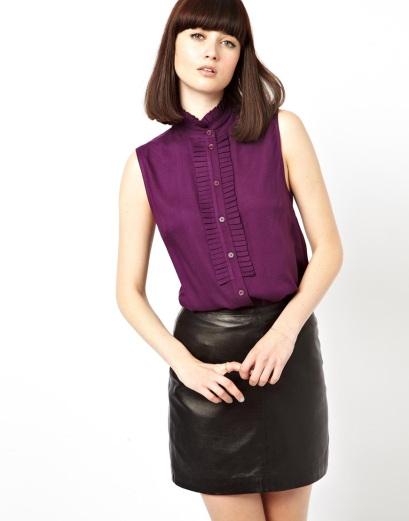 elblogdeanasuero_Color orquídea radiante_Asos blusa sin mangas cuello mao