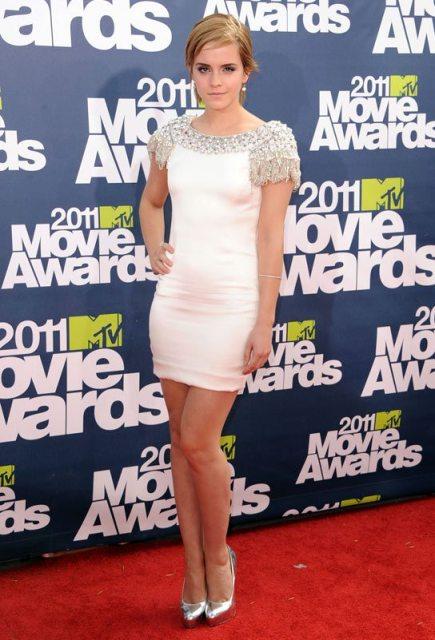elblogdeanasuero_El estilo de Emma Watson_Marchesa vestido corto blanco con pedrería