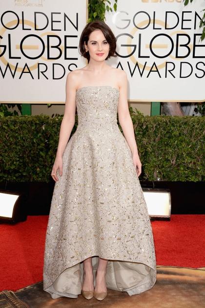 elblogdeanasuero_Globos de Oro 2014_Michelle Dockery Oscar de la Renta champán