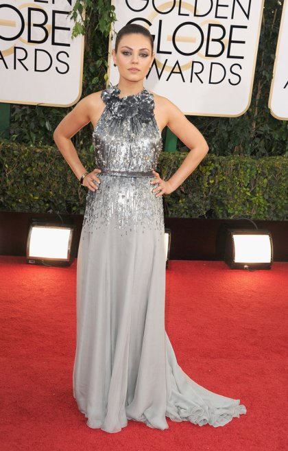 elblogdeanasuero_Globos de Oro 2014_Mila Kunis Gucci plateado