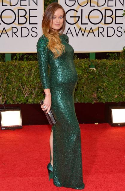 elblogdeanasuero_Globos de Oro 2014_Olivia Wilde Gucci pailletes verde
