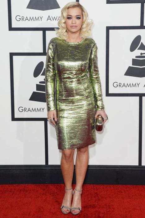 elblogdeanasuero_Grammys 2014_Rita Ora vestido Lanvin verde metalizado