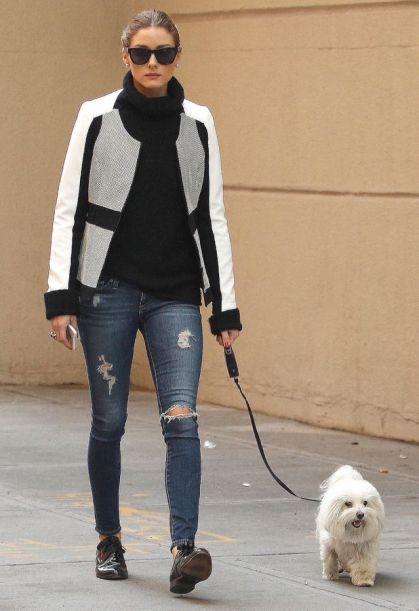 elblogdeanasuero_Ripped jeans_Olivia Palermo vaqueros y zapatos oxford
