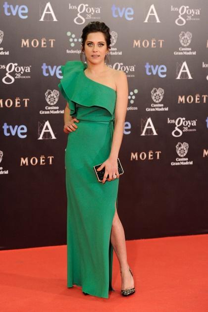 elblogdeanasuero_Premios Goya 2014_María León vestido Lanvin verde asiémtrico
