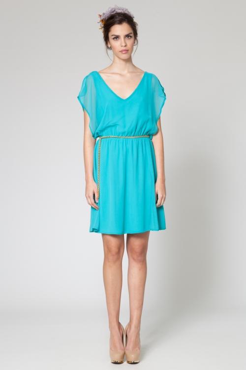 Zapatos para vestido azul turquesa