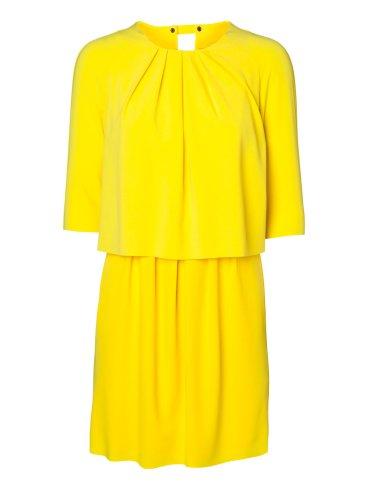 elblogdeanasuero_vestidos cortos bodas primavera 2014_Vero moda amarillo manga francesa