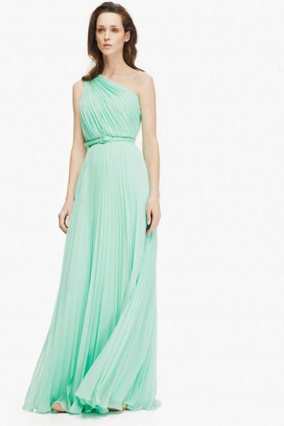 elblogdeanasuero_vestidos largos bodas primavera 2014_Adolfo Domínguez vestido griego verde pastel