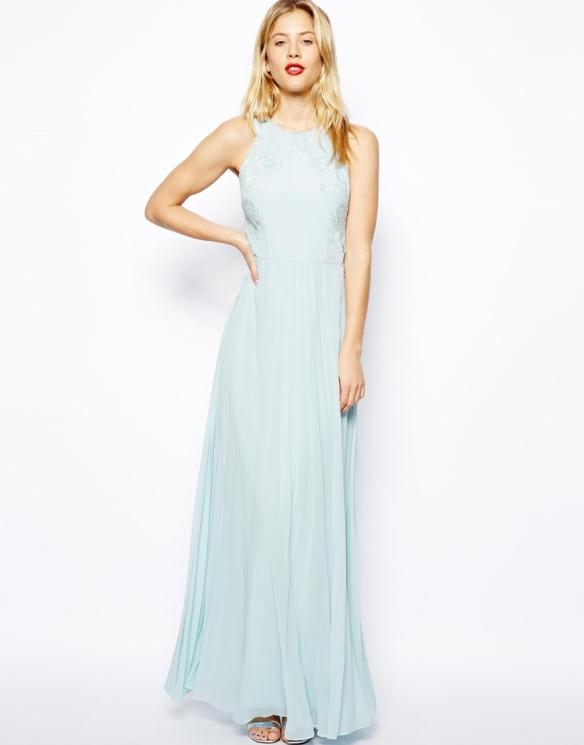elblogdeanasuero_vestidos largos bodas primavera 2014_Asos vestido azul cielo con bordados de Coast