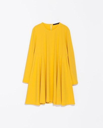 elblogdeanasuero_El boom de la semana_Zara vestido amarillo manga larga