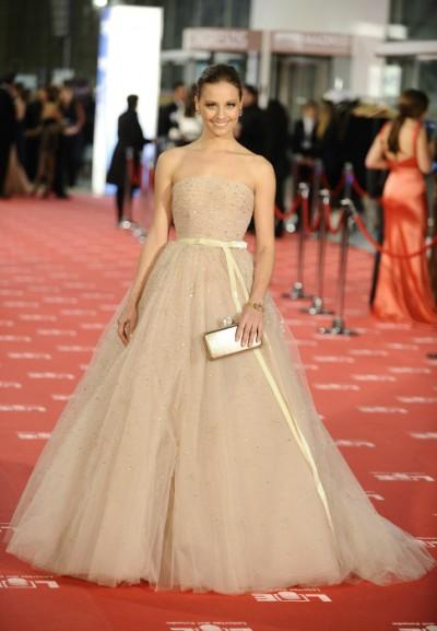 elblogdeanasuero_El estilo de Michele Jenner_Zuhair Murad vestido Goyas 2012 nude princesa
