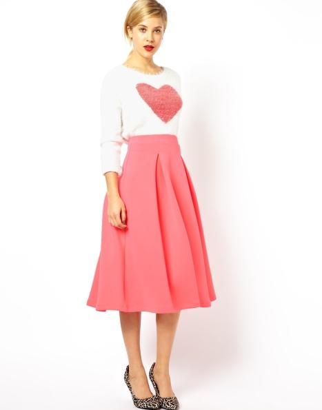 elblogdeanasuero_Faldas midi_Asos falda rosa chicle cintura alta