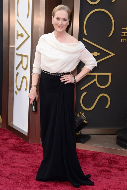 elblogdeanasuero_Oscars 2014_Prabal Gurung Meryl Streep blanco y negro