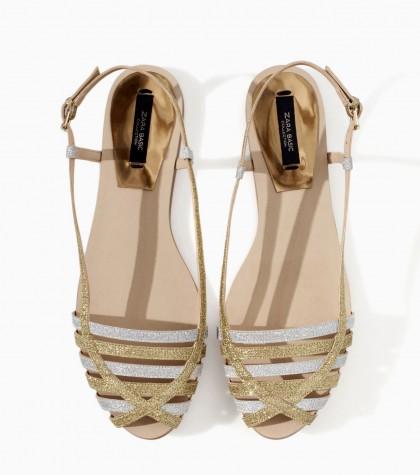 elblogdeanasuero_Cangrejeras glitter de Zara doradas y plateadas
