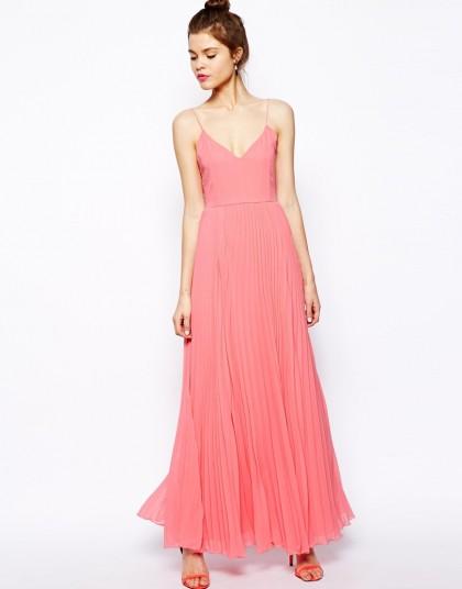 elblogdeanasuero_Color rosa claro_Asos vestido largo plisado