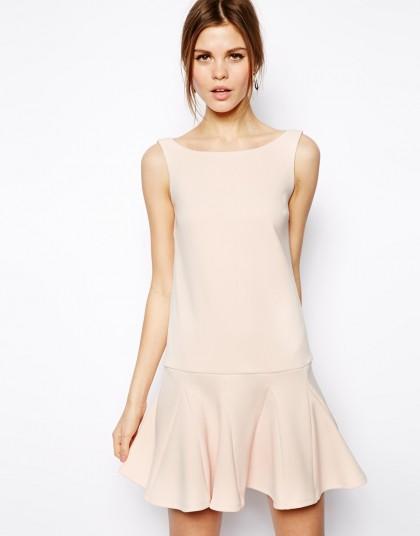 elblogdeanasuero_Color rosa claro_Asos vestido recto con volante