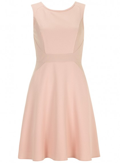 elblogdeanasuero_Color rosa claro_Dorothy Perkins vestido skater dos tejidos