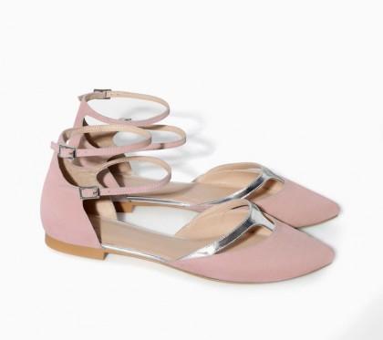 elblogdeanasuero_Color rosa claro_Zara TRF sandalias pala rosa y plateado