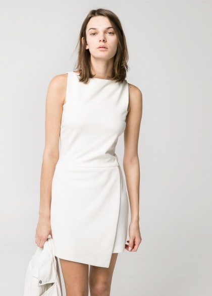 elblogdeanasuero_Little white dress_Mango minivestido falda cruzada