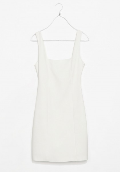 elblogdeanasuero_Little white dress_Zara TRF vestido de tubo escote cuadrado