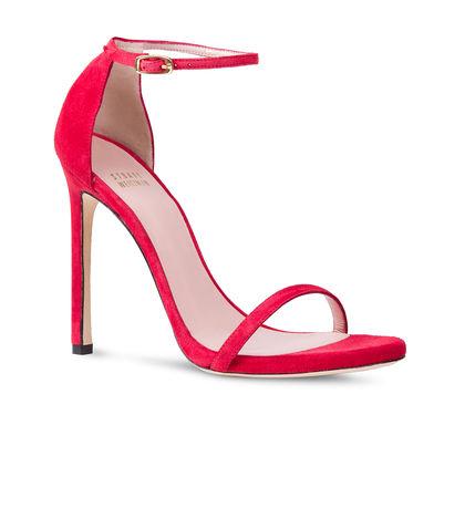 elblogdeanasuero_Zapatos de fiesta_Stuart Weitzman sandalias con pulsera de ante rojo