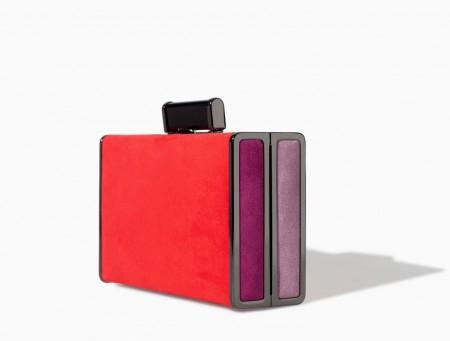 elblogdeanasuero_Clutches de boda 2014_Zara TRF clutch rojo y morado
