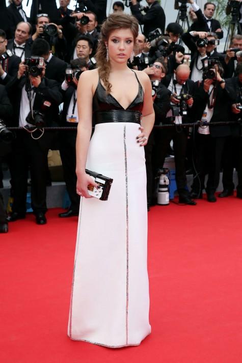 elblogdeanasuero_Festival de Cannes_Adele Exarchopoulos Louis Vuitton blanco y negro