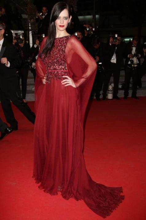 elblogdeanasuero_Festival de Cannes_Eva Green Elie Saab granate