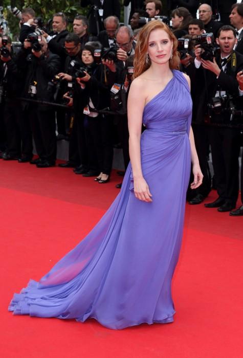 elblogdeanasuero_Festival de Cannes_Jessica Chastain Elie Saab lila griego