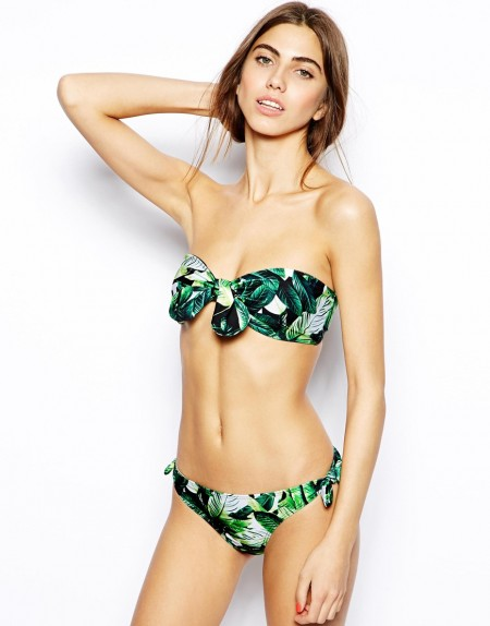 elblogdeanasuero_Bikinis 2014_Asos bikini bandeau estampado hojas