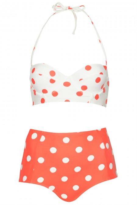 elblogdeanasuero_Bikinis 2014_Topshop bikini estilo retro lunares