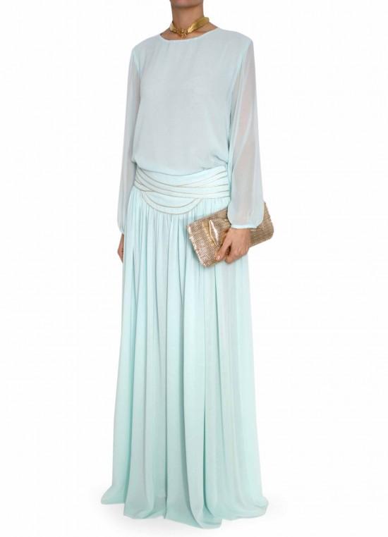 elblogdeanasuero_Propuestas invitadas boda_Bgo & Me falda larga de seda con vivos en la cintura