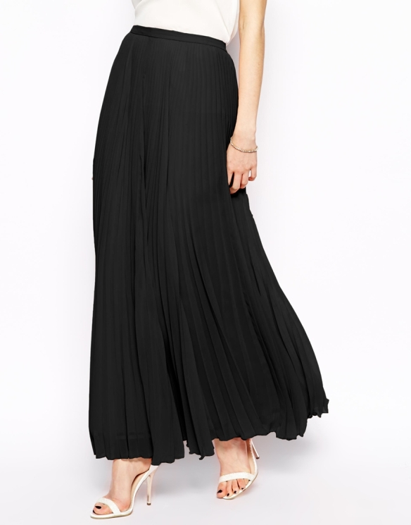 elblogdeanasuero_Faldas largas_Asos falda negra plisada