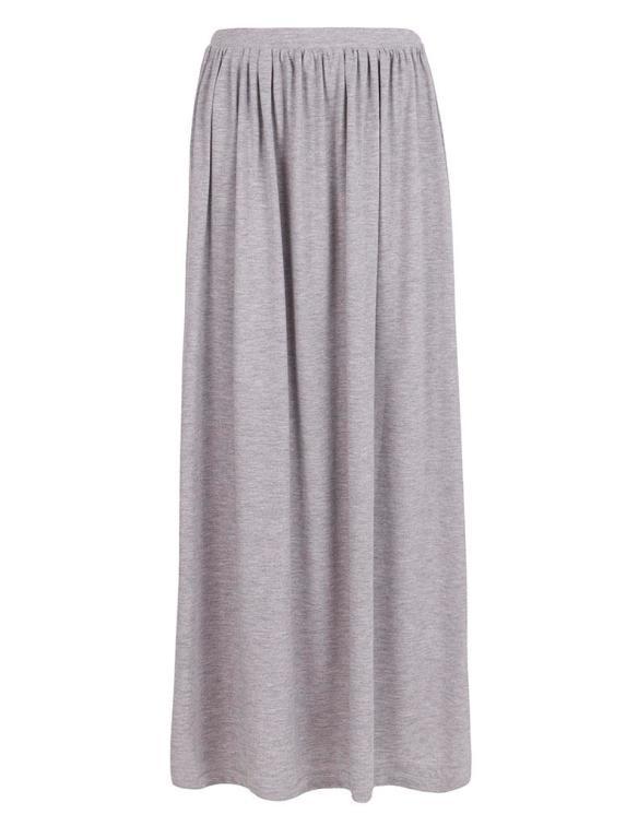 elblogdeanasuero_Faldas largas_Suite Blanco falda larga gris