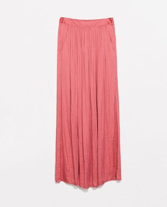 elblogdeanasuero_Faldas largas_Zara falda larga rosa con bolsillos