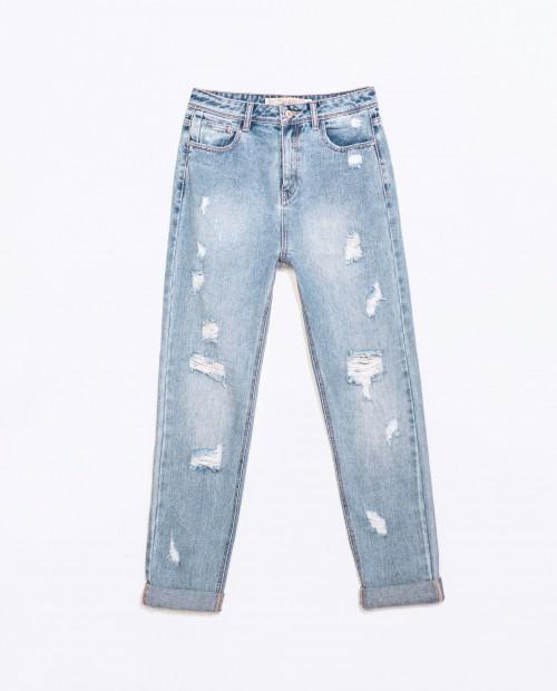 elblogdeanasuero_Mom Jeans_Zara TRF claros y ripped