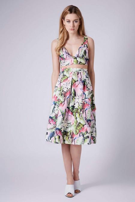 elblogdeanasuero_Tendencia matchy matchy_Topshop falda midi y crop top estampado tropical