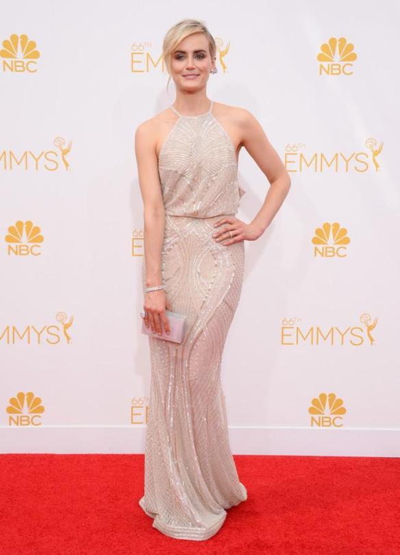 elblogdeanasuero_Alfombra roja de los Emmys 2014_Taylor Schilling Zuhair Murad nude pedrería