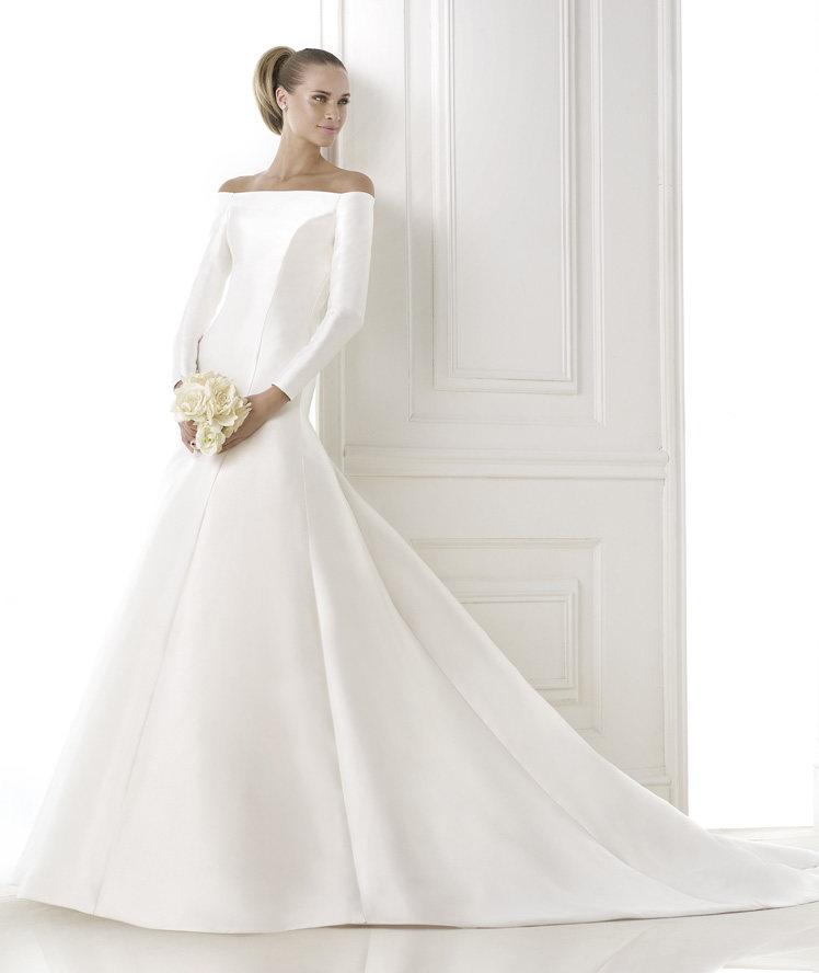 vestidos de novia clasicos con manga – vestidos de boda
