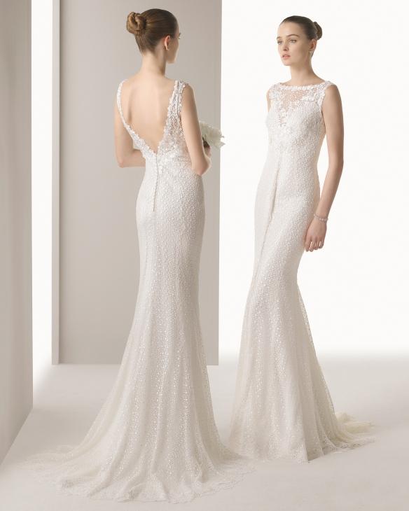 elblogdeanasuero_Vestidos de novia sirena 2015_Rosa Clara vestido de encaje y espalda escotada