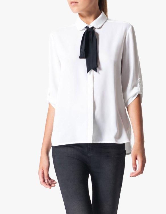 elblogdeanasuero_Camisas con lazo en el cuello_Stradivarius Blanca lazo negro